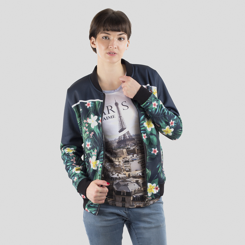 printed bomber jackets womens