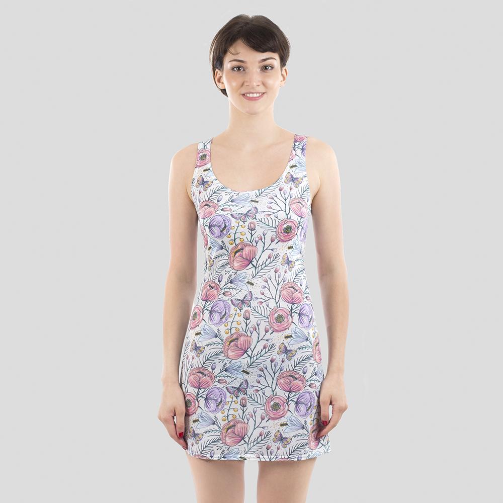 custom print beach dress