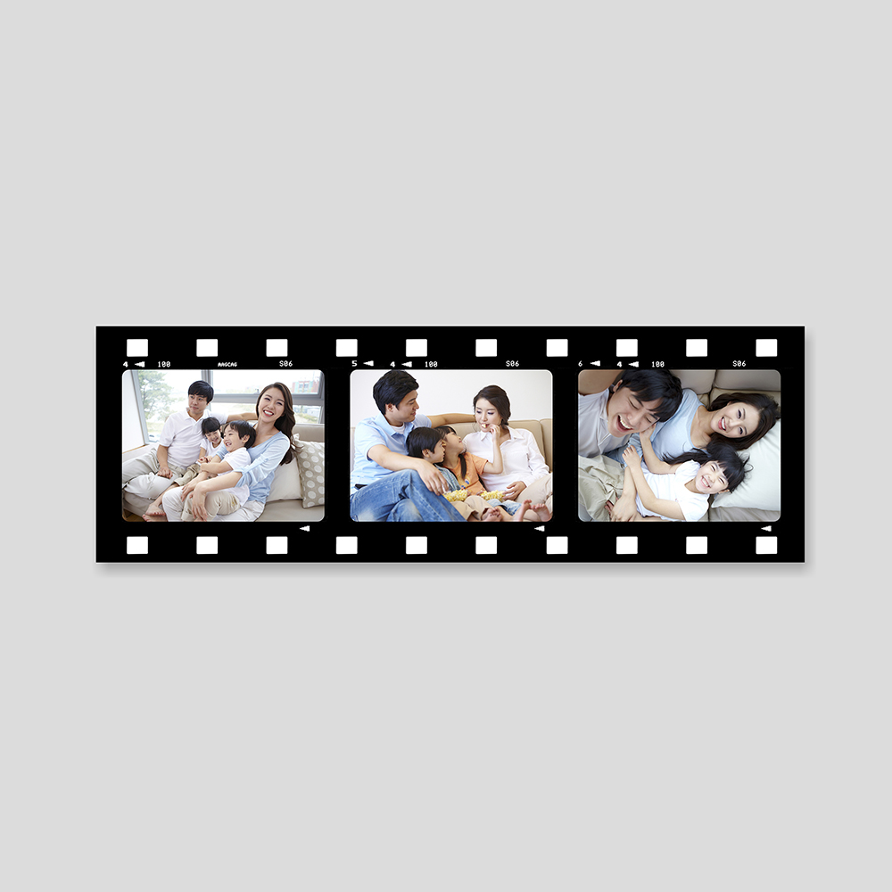 personalised film strip photo montage