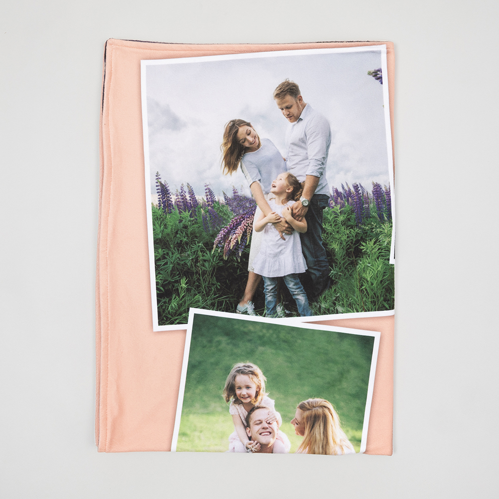 Custom fleece blanket with your photo collage