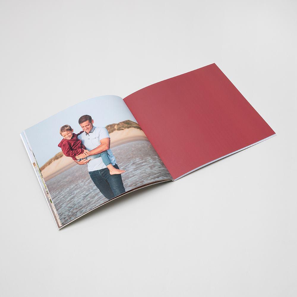 square softcover photo book