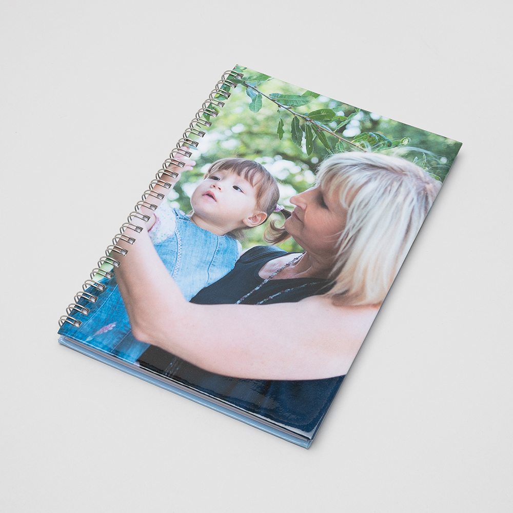 personalised spiral notebook