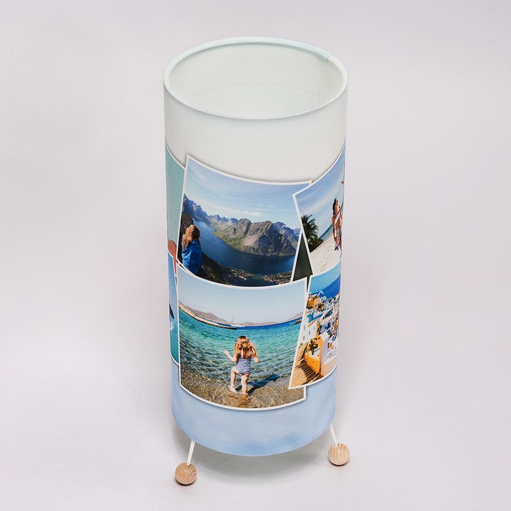 staande lamp met foto collage
