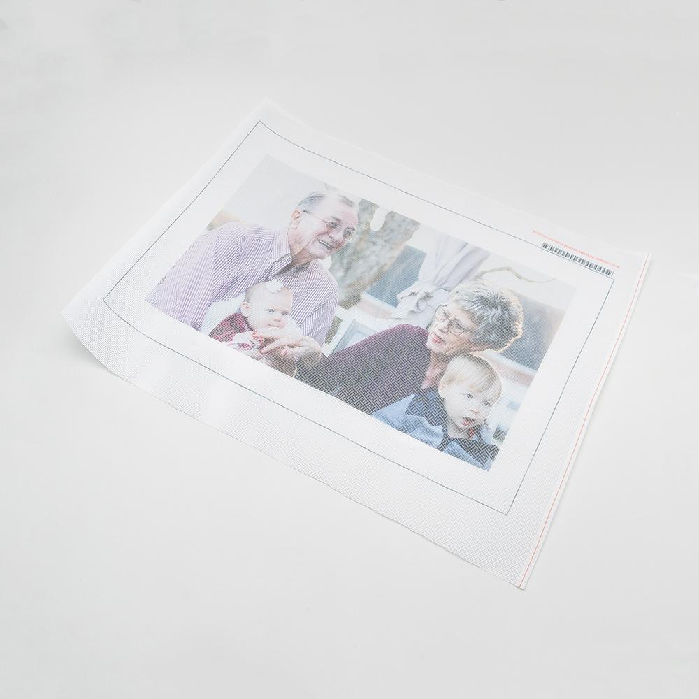 Toile à broder imprimée