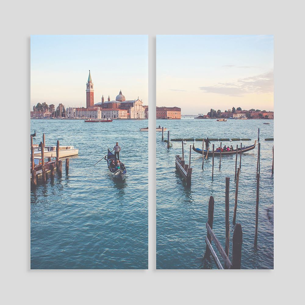 personalised split panel canvas