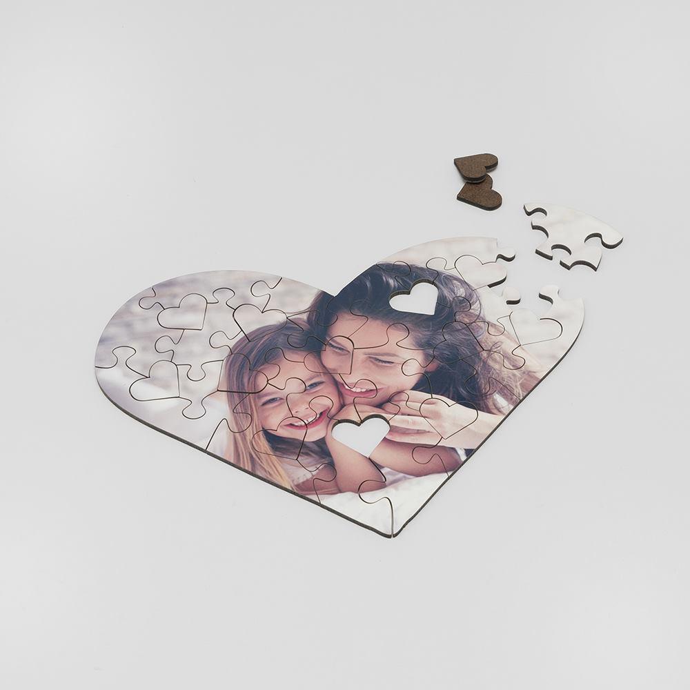 puzzle personalizado forma corazón