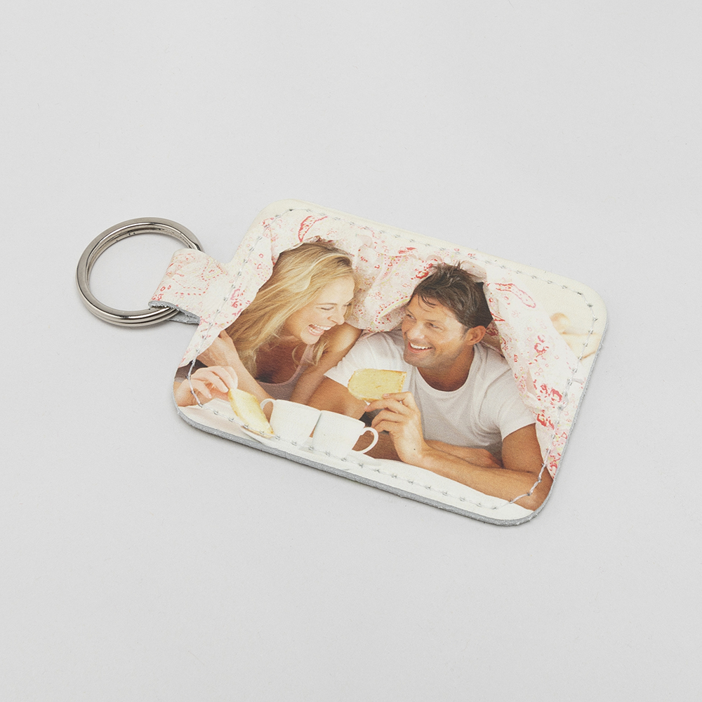 Personalized Leather Photo Keyring