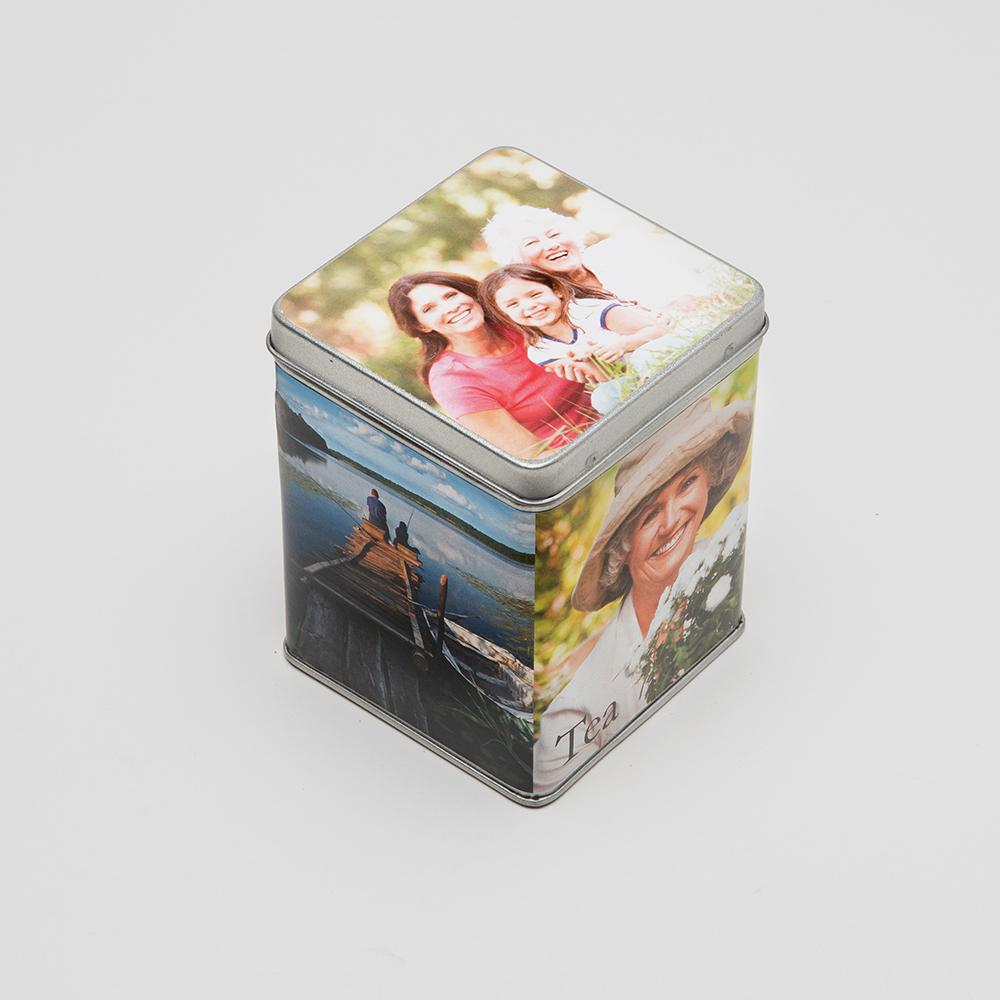 personalised tea caddy tin