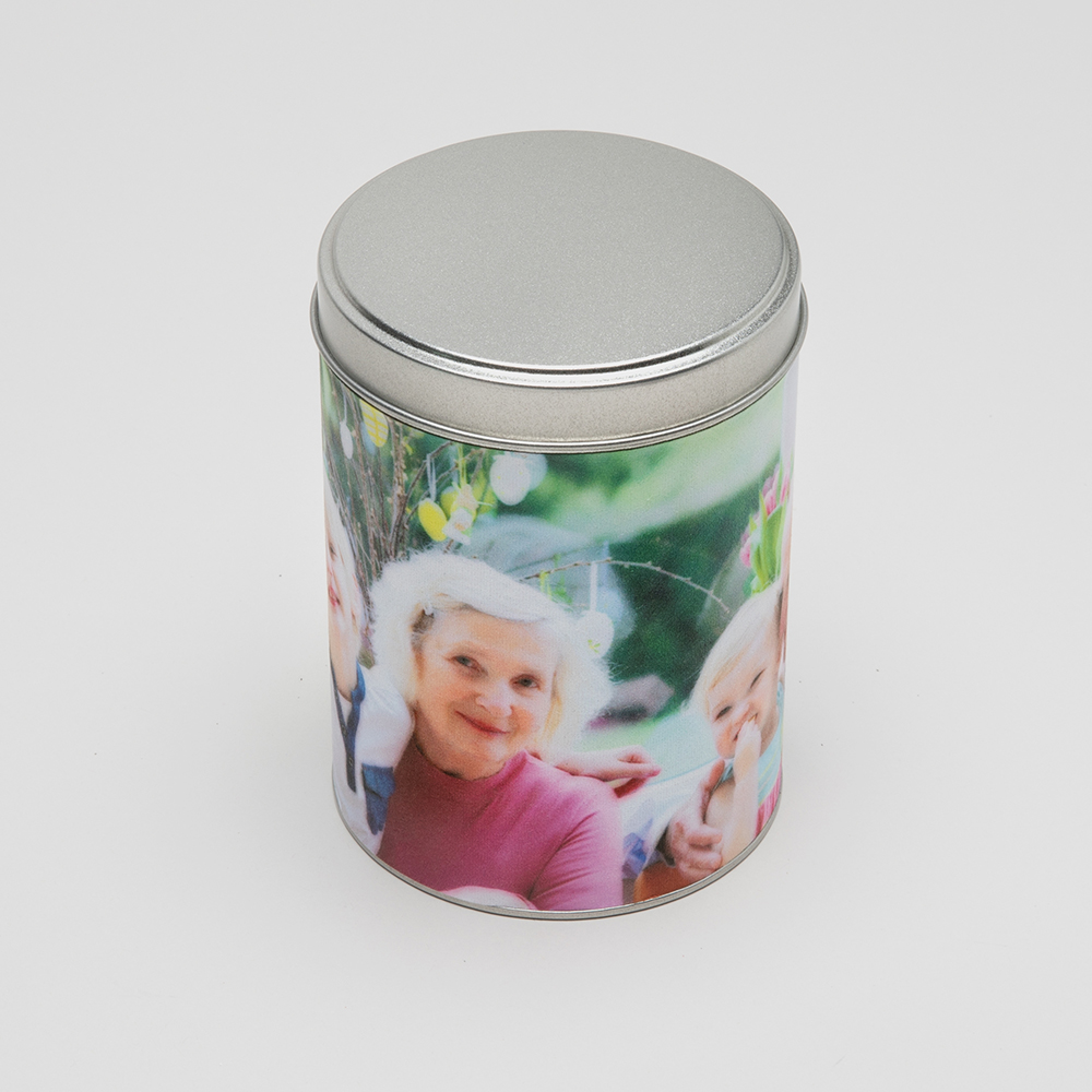 personalised tin cylinder