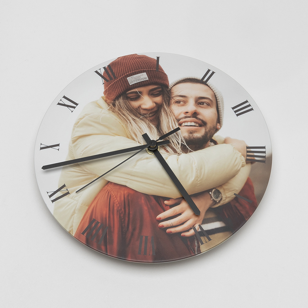 Ronde klok foto ontwerp