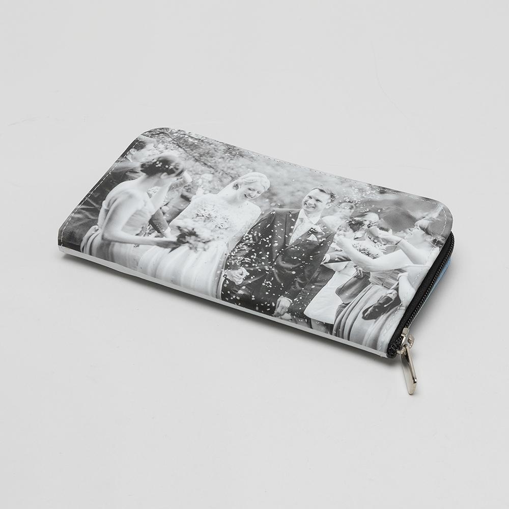 Läderplånbok med eget tryck