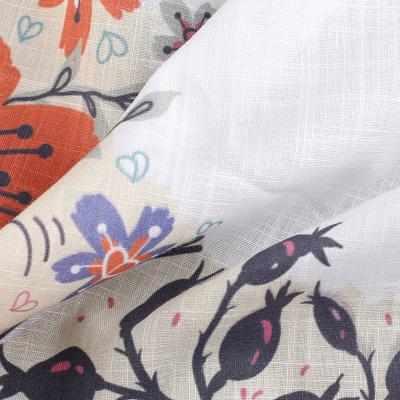 Naturliga textiler med eget tryck