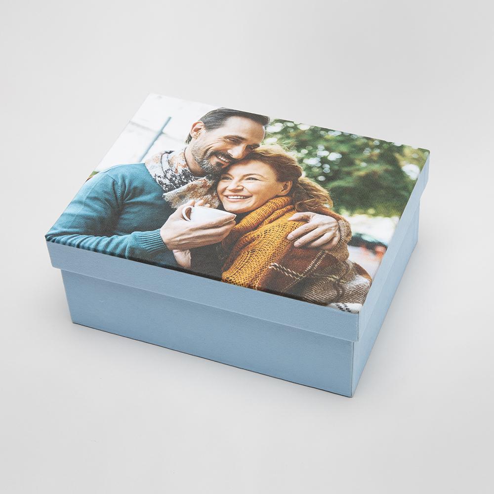 caja de cartón personalizada con fotos