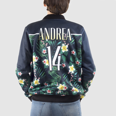 personalised ladies bomber jacket