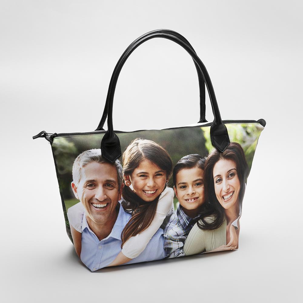 personalised zip top handbags