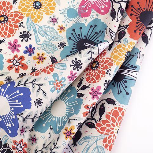 Midnight Dream Cotton Sateen Fabric