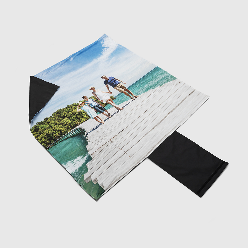printed beach blanket