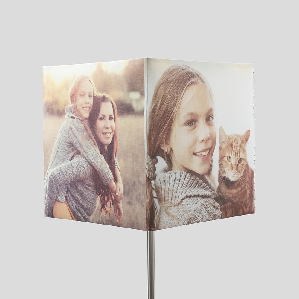 Fyrkantig lampskärm med foto