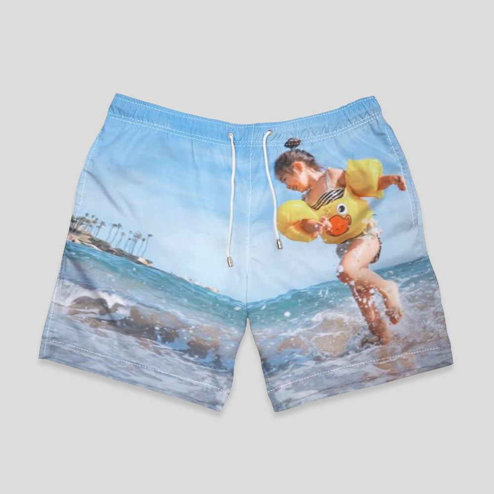 personalized swimming shorts