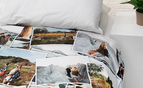double fleece photo blanket