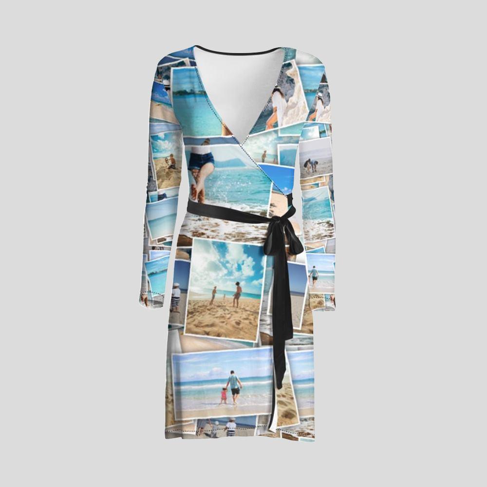 make your own midi wrap dress