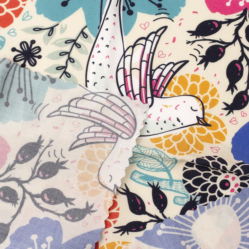summer breeze viscose printing