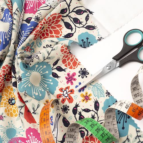 summer breeze printed viscose fabric