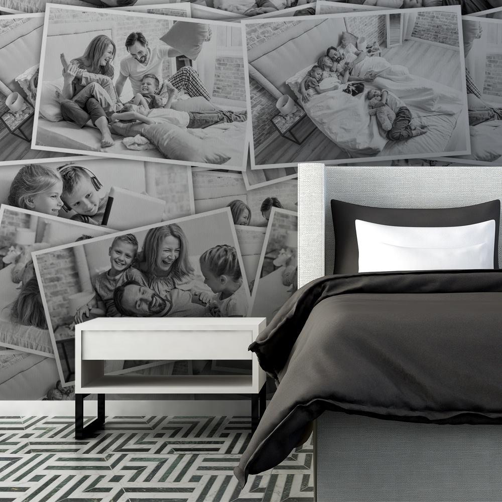 プリント寝室壁紙