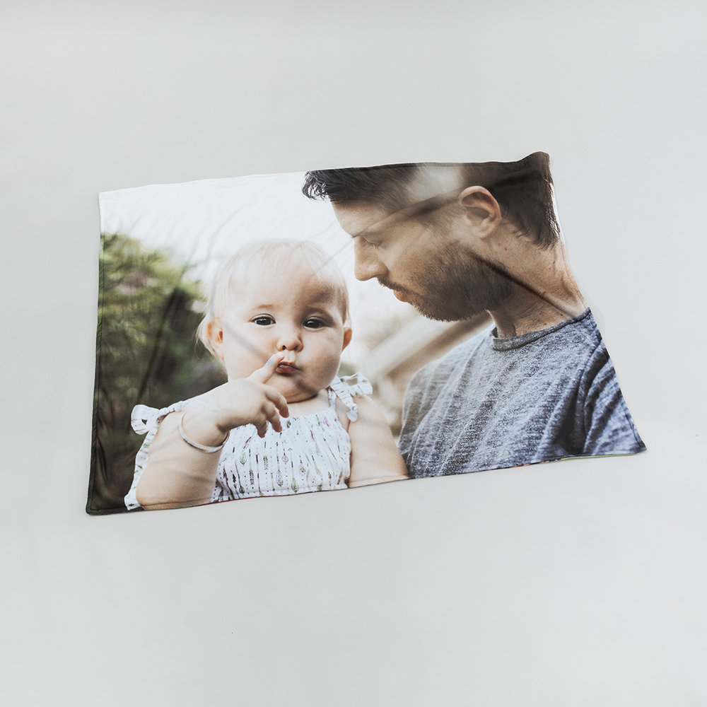 personalised baby photo blanket