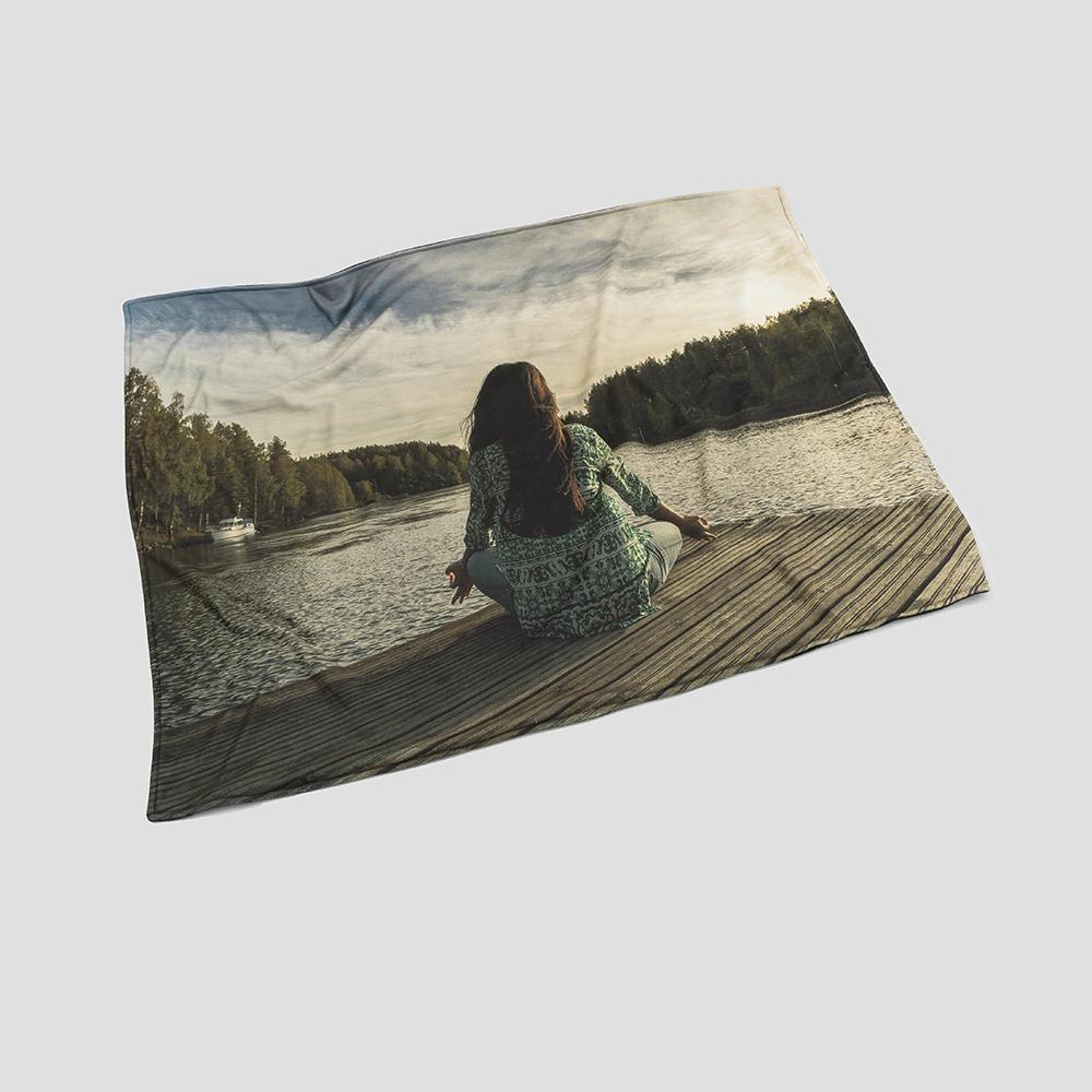 custom printed photo bedspread
