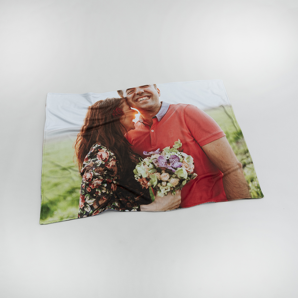 personalized snuggle blanket with your photos