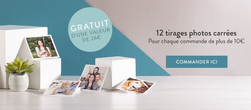 Tirages photos carrés gratuit