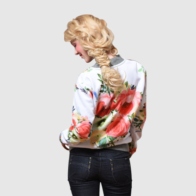 printed bomber jacket womens