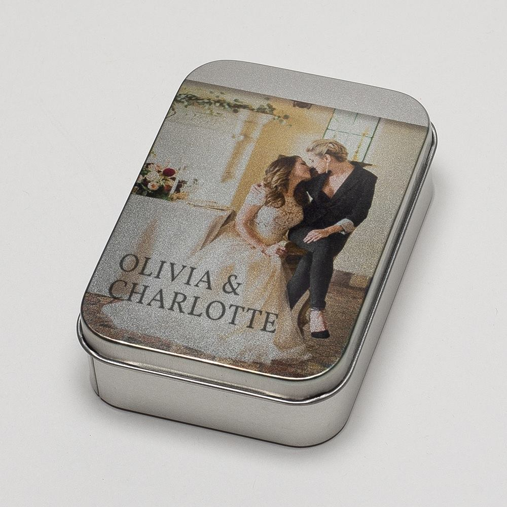 personalised metal tin