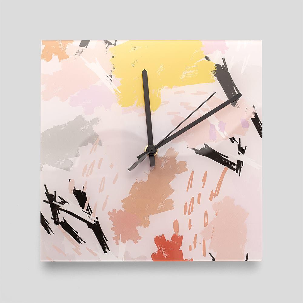 custom square wall clock