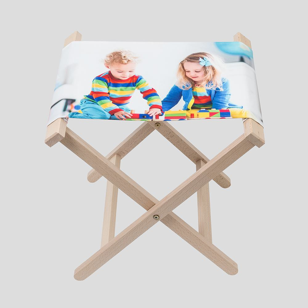 campingstol med eget tryck