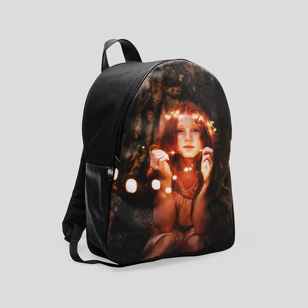 personalised leather backpack