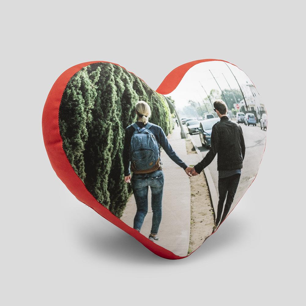 Hjärtformad fotokudde