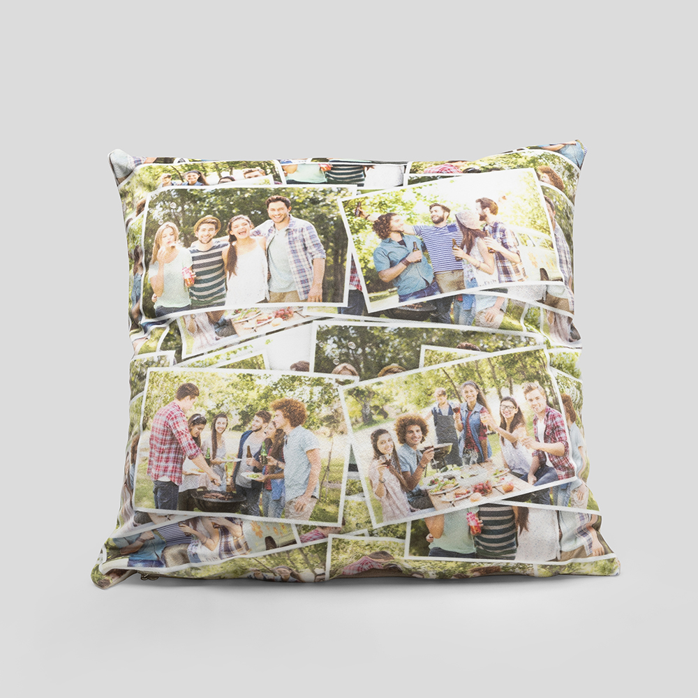 collage photo cushion