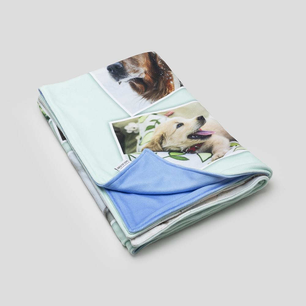 double sided photo blanket