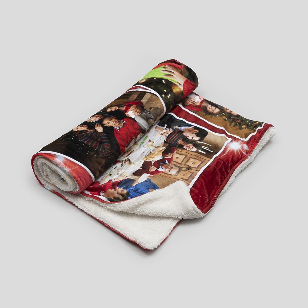 faux fur blanket printed