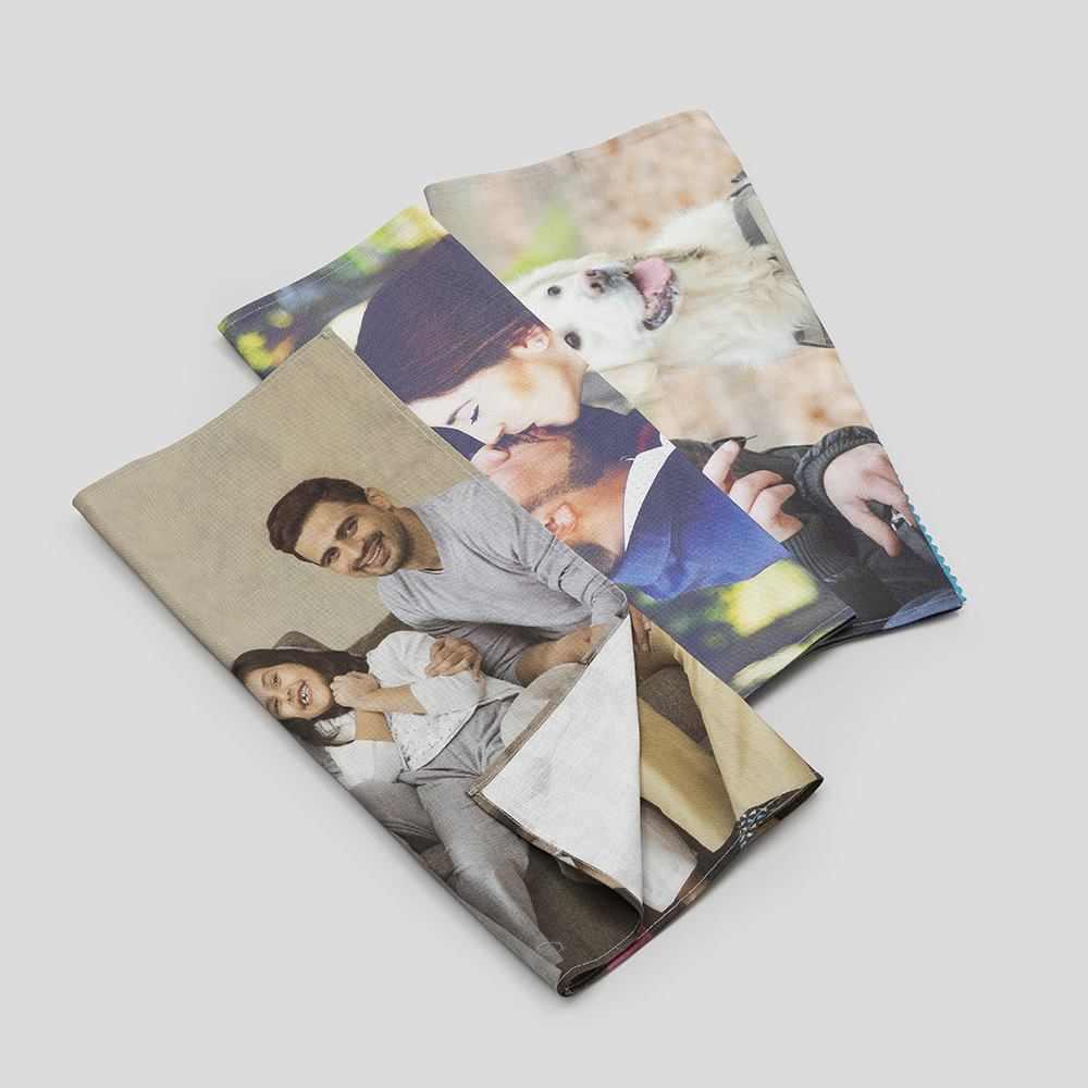paños de cocina con fotos