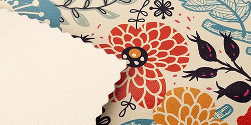textuur kunstleren meubelstof