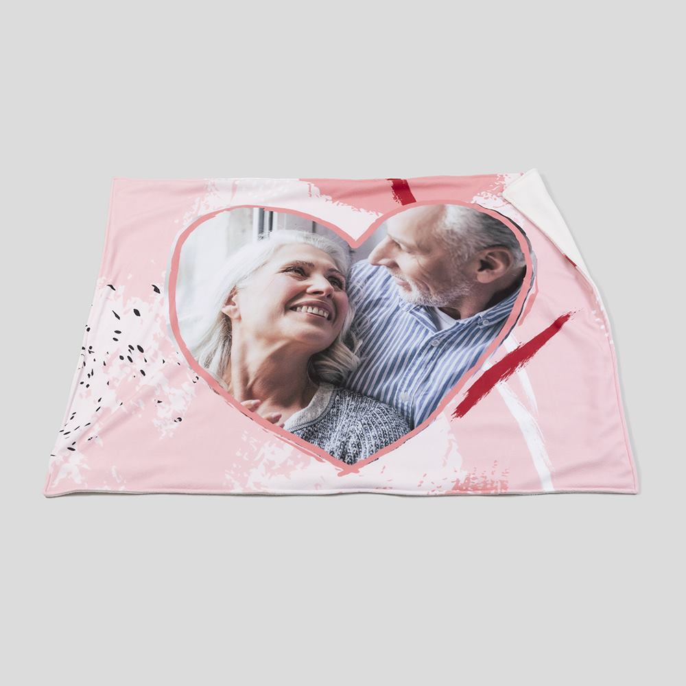 personalized heart blankets online