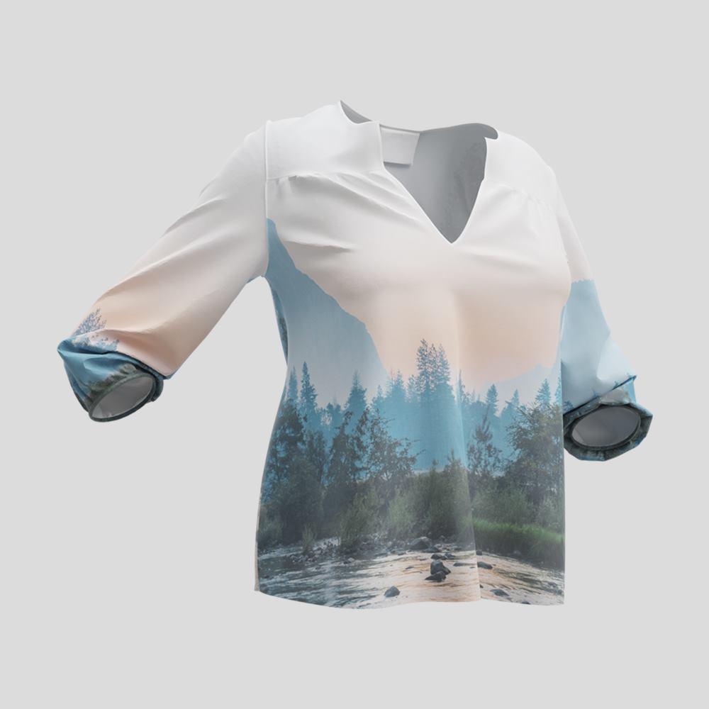 Blusa personalizzata con scollo a V