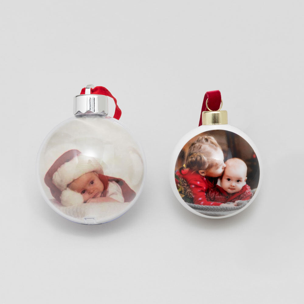 personalised photo baubles