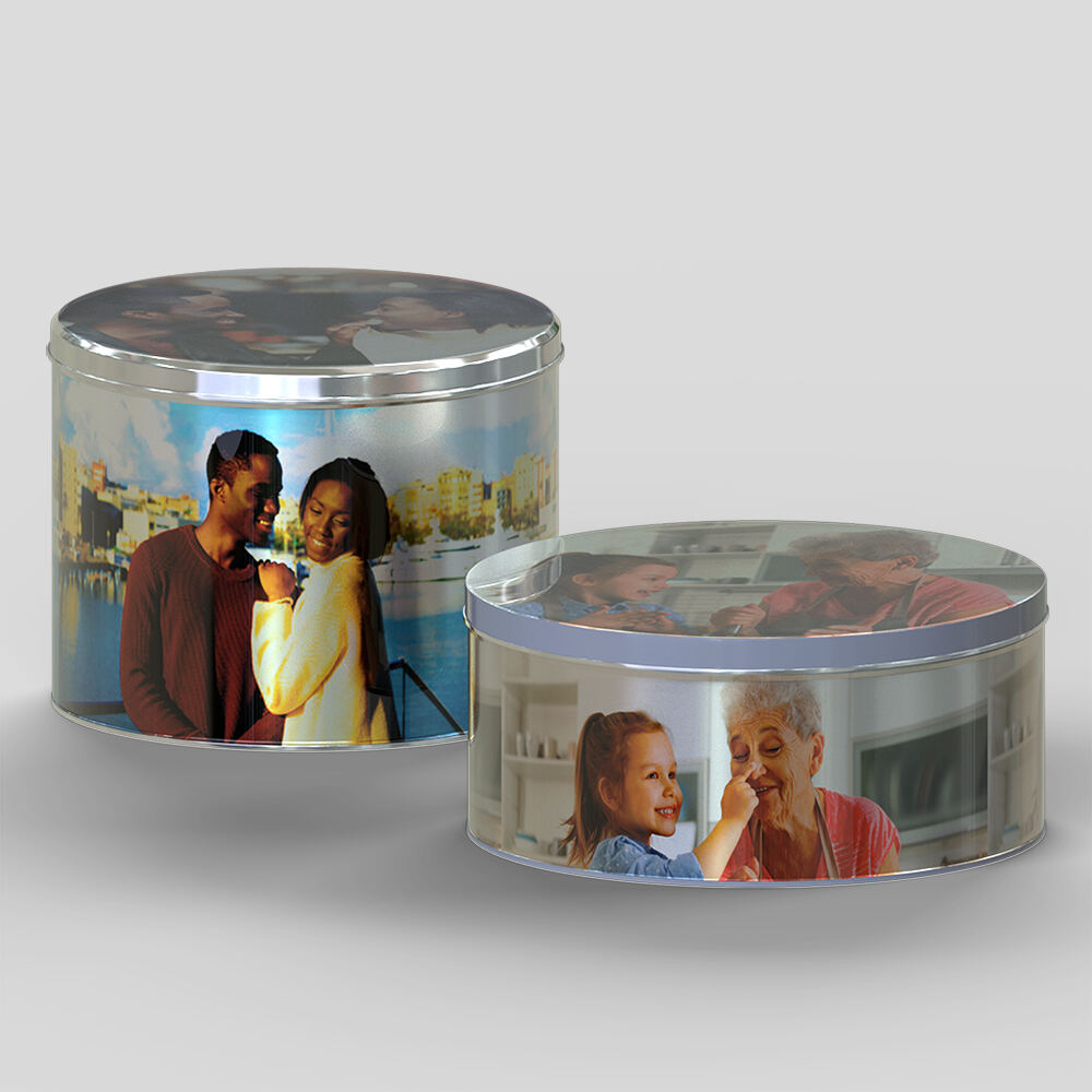 Personalised Round Storage Tin