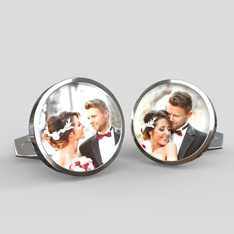 Custom Any Wording Round Groom Cufflink tie clips I Love You To The Moon And Back Cufflinks Square CufflinkS Custom Wedding Cuff Links
