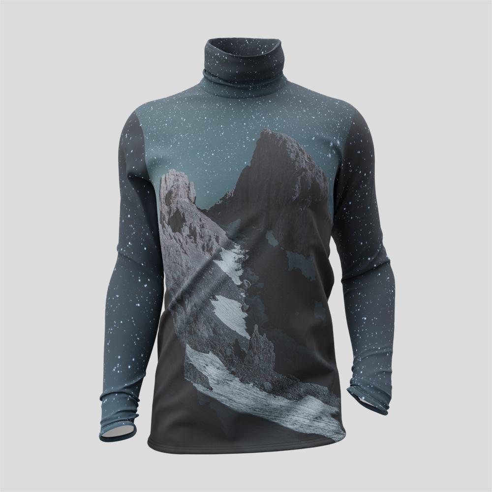 T-shirt personnalisé à manches longues et col roulé