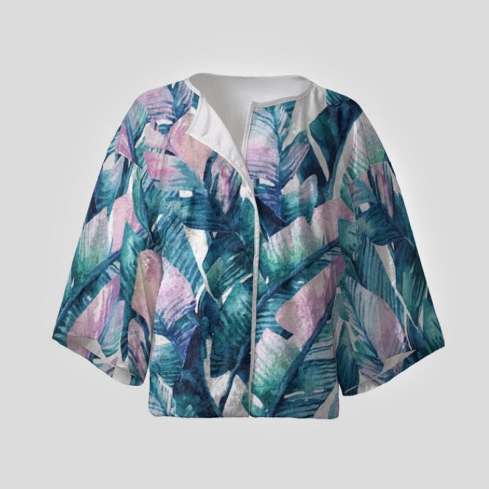 Kimono court pour femme personnalisable